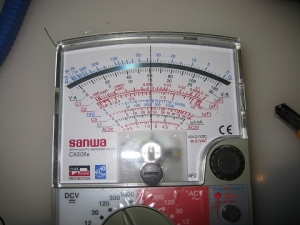 修理後再び36Ωの抵抗を測定