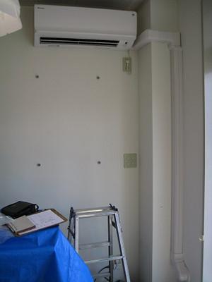 エアコンの設置完了