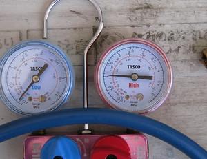 修理後の低圧圧力