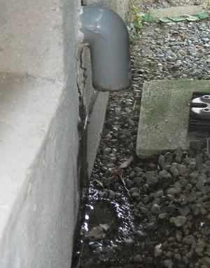 ドレン排水出口