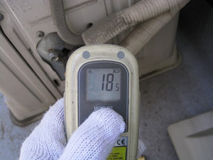 室外機のバルブ温度測定