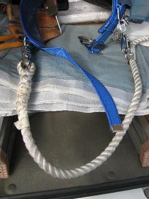 柱上安全帯に胴綱を付けたところ