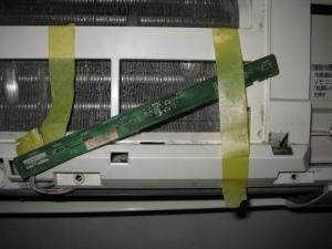 受光部基板が本体につながったまま修理