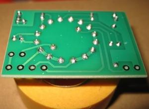 電圧調整用ロータリースイッチ半田付け