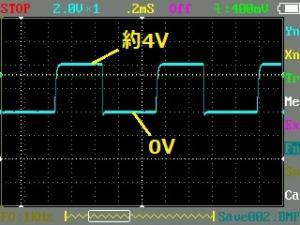 リモコン操作したときの受光モジュールから出るオシロ画像