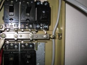 ブレーカー取り付け接続
