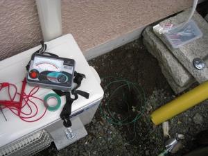 エアコンの接地工事