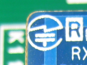 RFモジュール基板にある技適マーク