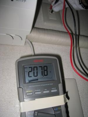 コンセントの電圧