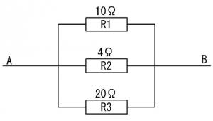 3つの抵抗並列回路