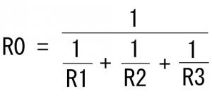 並列回路の抵抗値計算式