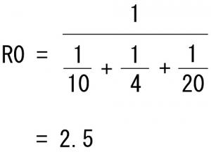 並列回路抵抗値の計算