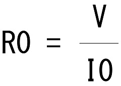 電圧、電流から抵抗値を出す式