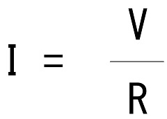 電流=電圧÷抵抗