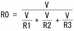合成抵抗の計算式