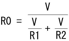 2つの並列合成抵抗