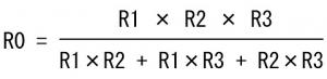 複雑になる並列抵抗値計算式