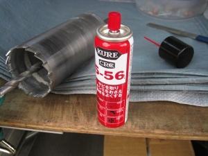 仕上げにCRC556を吹き付け拭く