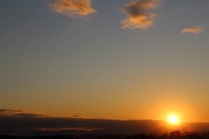 横浜市都筑区の夕日