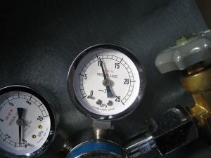 使用後のボンベ圧力