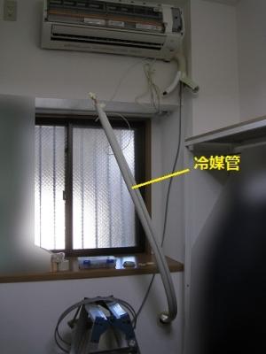 エアコン、室内施工途中