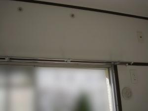 エアコンの取り外し完了、室内側