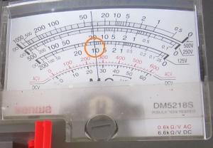 絶縁抵抗計125Vの指示値はテスター内部抵抗の10MΩ
