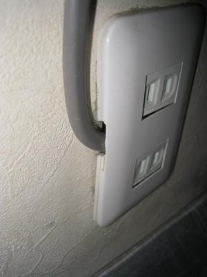 エアコンの電源を分岐回路からさらに分岐している