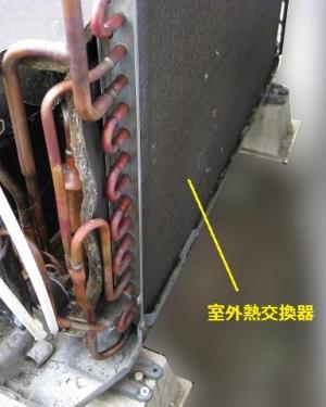 室外熱交換器で冷房時は冷媒を凝縮