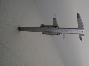 躯体から壁表面まで40mm