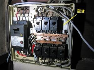 分電盤の空き回路