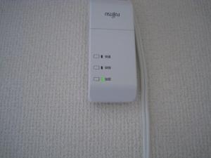 無線LANアダプタのランプも確認