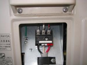 内外接続電線を修正