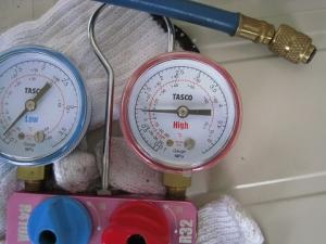 低圧圧力確認