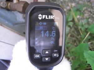 ガス管側バルブ温度14.6℃