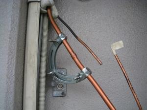 銅管を溶接できるようにセット
