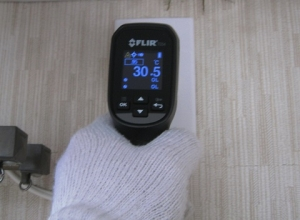 プラグ部分は30℃