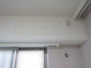 室内機、配管化粧カバーを撤去