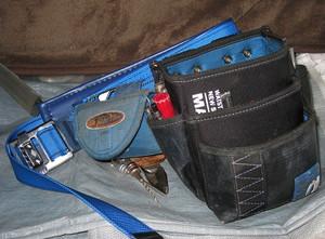 新しいベルトに道具をセットしたところ