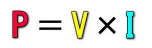 P=V×I