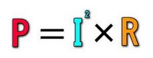 P=I^2×R