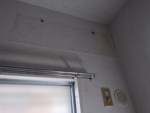 エアコン取り外し完了、室内側