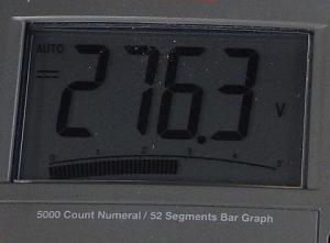 絶縁抵抗計250Vレンジの出力電圧は276.3V