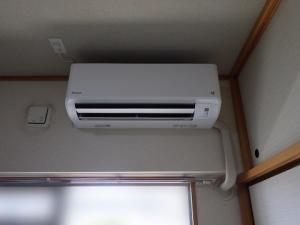 エアコン設置完了