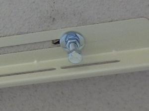 天吊り金具を固定したボルトナット