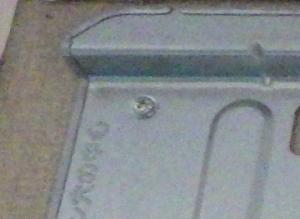 据付板のボードアンカー固定部分