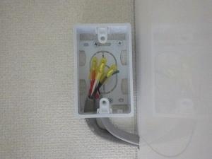 室内外連絡線を圧着接続
