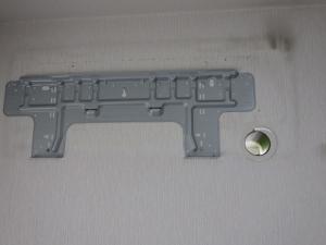 据付板と穴スリーブの取り付け