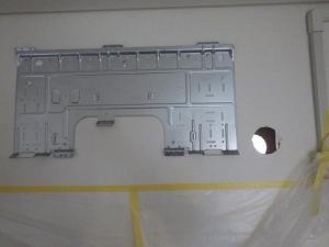 配管穴を外壁まで貫通