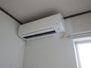 エアコン取り付け完了